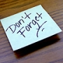 Dont forget  forgetful  forgotten  postit note  memo  remember  memory  todo list