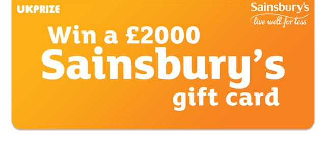 Sainsburys gift card competition